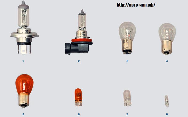 Лампы устанавливаемые на рено Логан