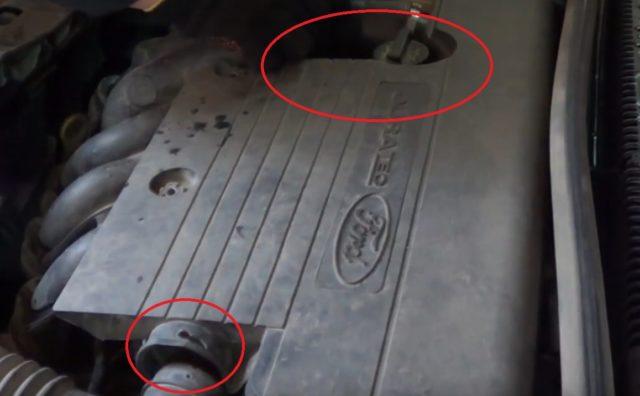 отсоединение патрубков форд фьюжен