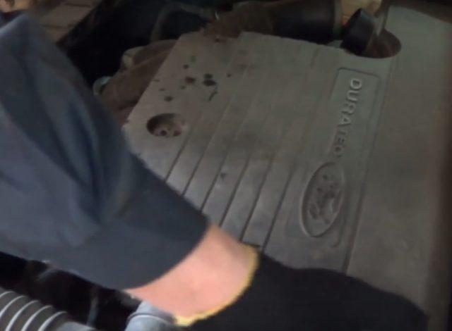 снятие крышки форд