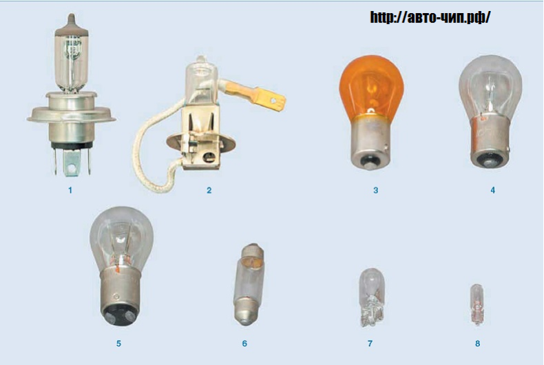 Лампы на Шевроле  Ланос