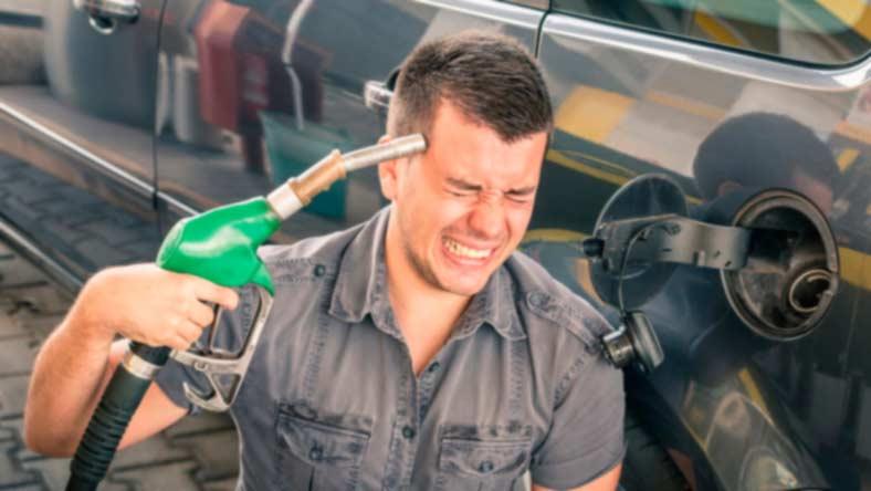 высокие зены на бензин Залил дизель вместо бензина.