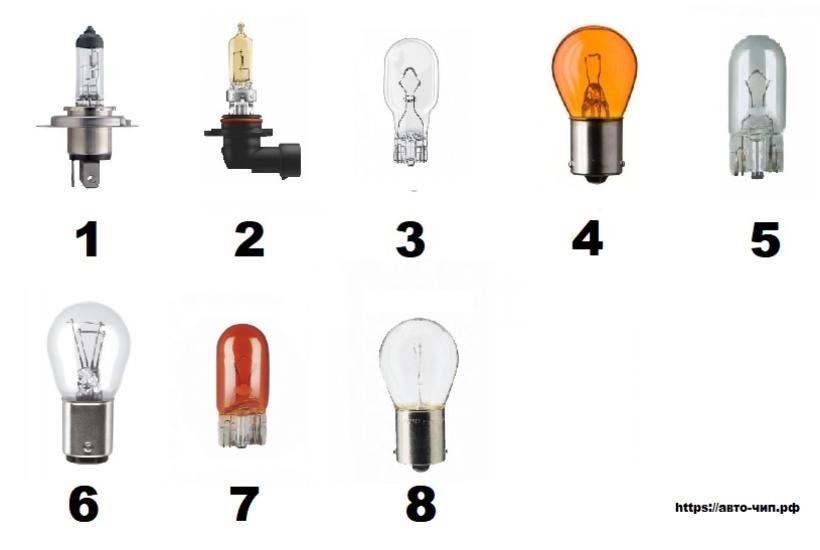 Лампы, применяемые на автомобиле лампы Киа Соул
